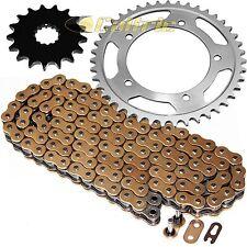 Gold O-Ring Drive Chain & Sprockets Kit Fits TRIUMPH Bonneville 800 T100 2002-06