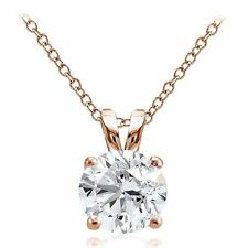 Cubic Zirconia Rose Gold Fine Necklaces & Pendants