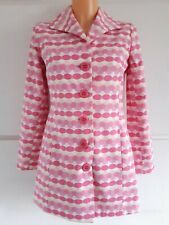 Miss Selfridge Ivory Pink Cotton Coat Size 10 Summer Wedding Occasion Trench Pea