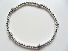 Five lucky stars Wish Silver plated ball beads bracelet looks good for stacking