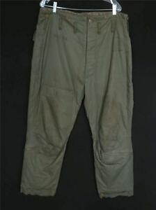 VERY RARE VINTAGE 1940'S TYPE A-9 U.S. ARMY AIRFORCE HEAVY FLIGHT PANTS SIZE 40