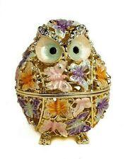 Butterfly Owl trinket box hand made by Keren Kopal & Austrian crystals