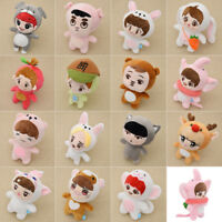 KPOP EXO Plush Cute Cartoon Dolls Animal Toy Doll Fanmade SUHO SEHUN CHANYEOL