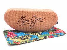 NEW Maui Jim Large Clam Sunglasses Eyeglasses Hard Case and Cleaning Cloth/Pouch