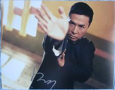 DONNIE YEN SIGNED 11x14 INCH PHOTO DC/COA (IP MAN) PROOF a