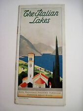 "Vintage ""The Italian Lakes"" Travel Brochure Written in English *"