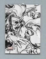 2018 Marvel Masterpieces Preliminary Art PA39 She-Hulk vs Titania Card
