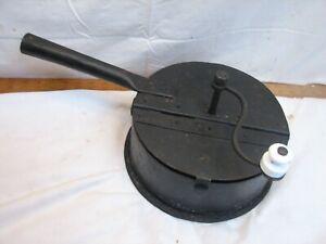 Antioque Iron Hand Crank Chestnut Roaster Nut Roasting Coffee Bean