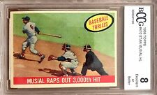 Musial Raps Out 3000th Hit 1959 Topps #470 Beckett 8.0 Excellent