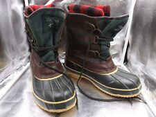 Yukon Brown  Rain Snow Removable Wool Lining Boots Shoes Sz 7 Men's Winter Warm