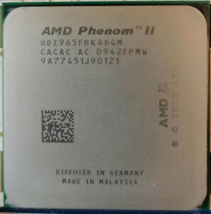 AMD Phenom II X4 965 Black Edition 3.4 GHz Quad-Core HDZ965FBK4DGM + Kühler