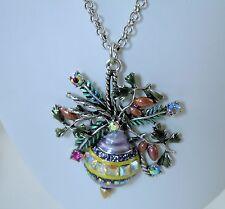 Kirks Folly Holiday Splendor Necklace  Silvertone   Christmas
