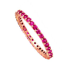 Natural Pink Sapphire stackable Ring 0.925 Sterling Silver Ring size 7