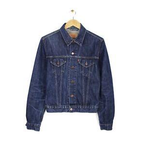 Levis Womens Vintage Style Dark Blue Trucker Style Denim Jacket - Size M