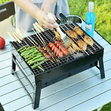 Mini BBQ Barbecue Grill Folding Portable Charcoal Stove Camping Garden (Large)