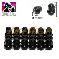 24 GORILLA LARGE SEAT OEM OE STOCK WHEELS LUG NUTS 14X1.5 M14 ACORN RIMS BLACK