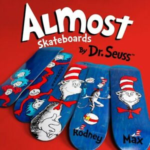 ALMOST Skateboards FULL DR SEUSS COLLECTION 5 RARE DECKS CAT IN THE HAT SERIES!