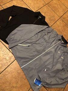 Lot Of 2 Men's Champion Full Zip PerforMax Jacket NEW, Murano Quarter Zip Preown