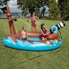 SUN PLEASURE PIRATE SHIP CANNON WATER SPRAYER INFLATABLE SWIMMING POOL LOUNGE