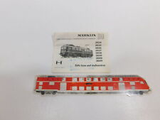 CG763-0, 2 #Märklin H0 Instruction For E-Lok From 1968: 3034+3035+3036+3059