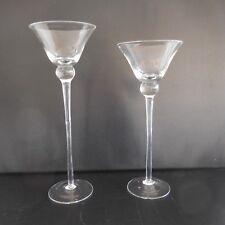 2 verres à pied fait main style Moyen âge Renaissance vintage authentique France
