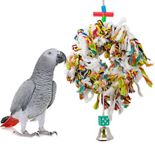 1015 Sm. Fluffy Ring Bird Toy parrot cage toys cages swing preen plucker conure