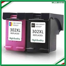 ✅ KIT 2 CARTUCCE COMPATIBILI HP 302 XL NERO+COLORE STAMPANTE DESKJET 3830 3832 ✅