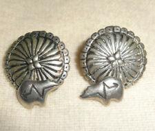 Silver Earrings Native Hopi Bear Vintage Tony Kyasyousie Tk Signed Sterling