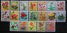 BELGIUM - RUANDA  - URUNDI FLOWERS 1953 SC : 114 - 132  MNH
