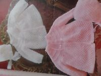 """Knitting Pattern Baby Girl Boy Cardigan and Bonnet 3/4 Ply 18-19"""" Chest Vintage"""