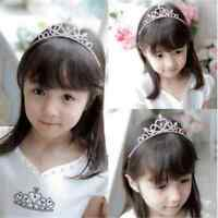 1PC KID Girl Crystal Tiara Hair Band Bridal Wedding Princess Prom Crown Headband