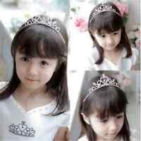 1PC KID Girl Crystal Tiara Hair Band Bridal Wedding Princess Prom Crown Headband