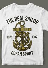 Real Sailor Herren T-Shirt Kult Anker Sailor Shirt Weiß Größe M - XL