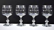 Irish Coffee Mugs / Footed Glasses With Shamrock Logo Set of 4