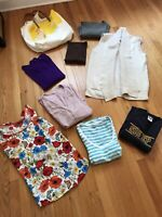 Lot Of 9 Items Womens Clothing Size L Calvin Klein Tahari Vichy Tops Vest T-shir