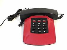 Desktop Telephone Red Black Retro Amertel Lady Bug Plush Model 8052 Desk Phone