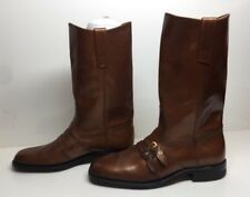 VTG MENS ACME ENGINEER LEATHER BRONZE BOOTS SIZE 8 D