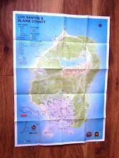 GTA GRAND THEFT AUTO CINCO V 5 LOS SANTOS Mapa inglés de ORIGINAL GAME