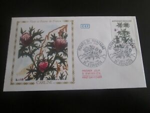 enveloppe premier jour 1983 flore et faune de france carline