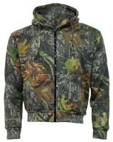 Camouflage MOSS Camo Hoodie Hooded Zip Top / Jacket - Hunting Shooting Fishing