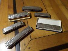 Lot de 6 harmonicas