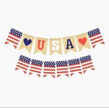 Decoración de Fiesta Independencia 4 de Julio patriótica, Bandera estadounidense