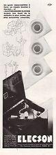 Publicité ELECSON  Gramophone Phonographe photo vintage  ad  1930 - 10h
