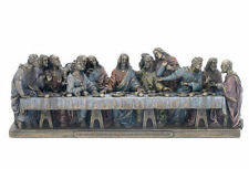 "Small The Last Supper Sculpture Statue Figurine - 9"" Long - WE SHIP WORLDWIDE"