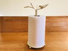 Unique Handmade Iron Kitchen Bathroom Bird Paper Towel Roll Holder Stand CRM001