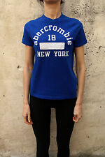 ABERCROMBIE FITCH NEW YORK Kids Boy's T-shirt à encolure ras-du-cou bleu MUSCLE XL LADY M/L