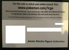 Pokemon Trading Card TCG Online Game Code Card Alolan Raichu Figure Collection