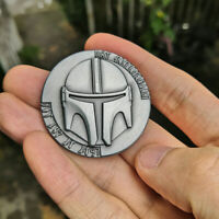 Star Wars The Mandalorian Collect Metal Coin Bounty Hunter Boba Fett Props