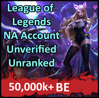 💎 League of Legends Account NA LOL Smurf 50k+ BE + 30 SECOND EMAIL DELIVERY