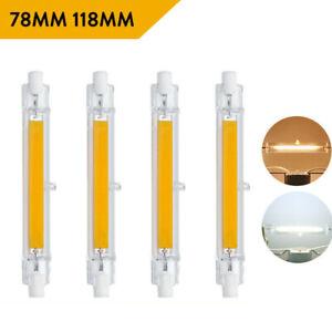2X 5X LED R7s 78mm 118mm Glasröhre Glühbirne COB Ersetzen Halogenlampe 220V 240V